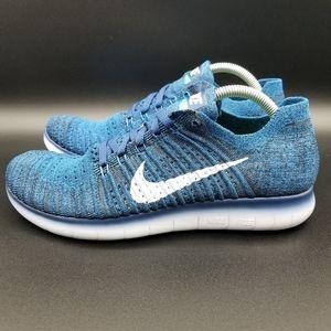Nike Free RN Flyknit II Men's Shoe Size:8 Blue/Blk